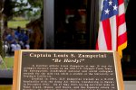 New plaque at dining facility in honor of Zamperini