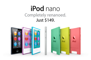 iPod nano. Completely renanoed. Just $149.