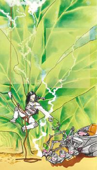 Clara Mente y la planta del tabaco