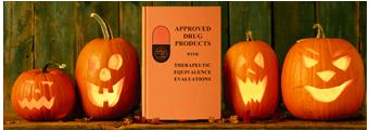 Orange Book with jack-o'-lanterns