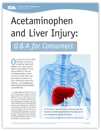 Acetaminophen and Liver Injury: Q&A for Consumers -- (JPG)