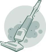 Clip art of a vacuum cleaner.