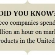 A textbox stating tobacco facts.