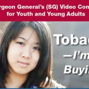 Picture of a girl protesting tobacco.