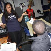 Teens at the Boys and Girls Club of Greater Washington at the Germantown, MD, branch