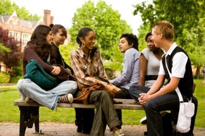Teens being social