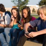 teens talking on phones