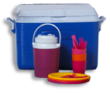 coolers and picnic equipment