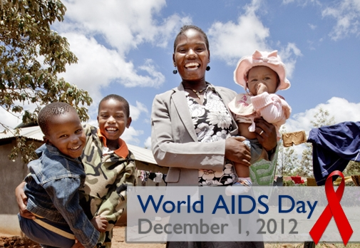 Photo of a family in Tanzania. Learn more about our work in HIV/AIDS and commitment to an AIDS Free Generation