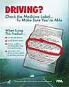 Driving? Check the Medicine Label (public service announcement) - label circled in red