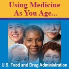 "5 elderly people with title ""Using Medicine as you Age"""