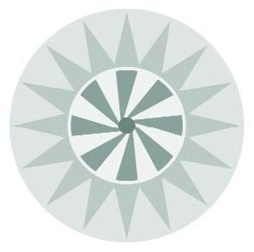 Clip art of a solar symbol.