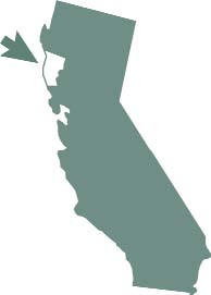 Image of a map of California