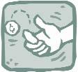 Clip art of a hand flipping a coin.