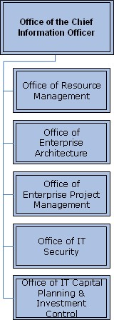 Org Chart for The Office of the Chief Information Officer