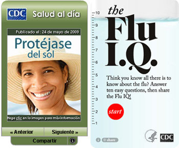 Salud al dia and the Flu IQ.