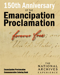 150th Anniversary of the Emancipation Proclamation coloring book