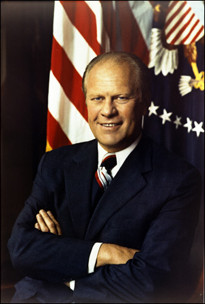 Official portrait of President Gerald R. Ford. August 27, 1974.
