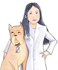 Clara Mente con su perro