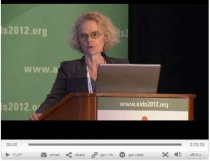 Director Nora Volkow presenting at the AIDS 2012 conference