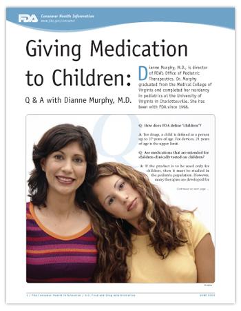 Giving Medication to Children PDF