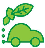 Car with leaves exhaust