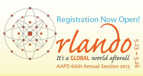Online Registration is Now Open for the AAPD 66th Annual Session, May 23-26, 2013