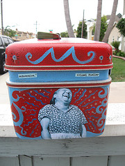 """Upcycled Train Case, """"The Laughter of Women"""" 3"""