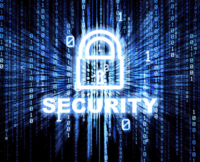 stock image of computer security