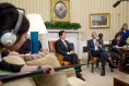 President Obama Meets with Prime Minister Abe of Japan