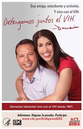 Afiche de la campaña Dentengamos Juntos el VIH