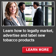 Learn how to legally market, advertise and label new tobacco products - learn more.