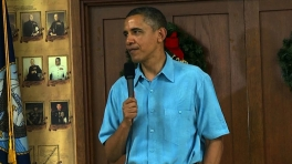 President Obama Speaks to Servicemembers on Christmas