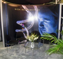 Exhibit booth at Neuroscience meetings