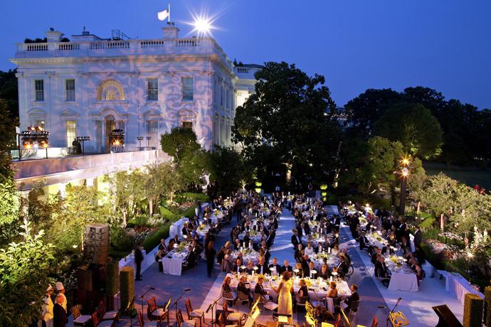 State Dinner in the Rose Garden