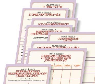Ilustración de hojas de cálculo en esta publicación.