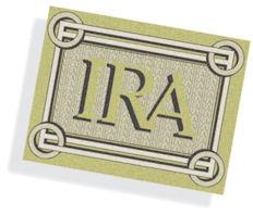 Gráfica con la palabra IRA.
