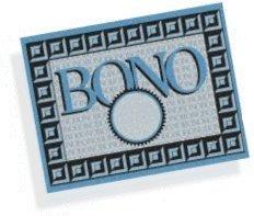 Gráfica con la palabra bono.