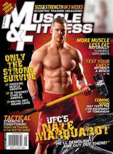 "Cover of ""Muscle & Fitness Magazine""."