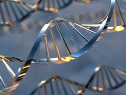 Shiny DNA helix.
