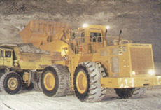 Diesel-powered equipment used in underground mining