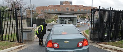The West Drive patient entrance gate