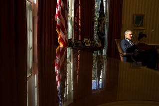 President Barack Obama talks with Chief of Staff Denis McDonough and Senior Advisor Dan Pfeiffer in the Oval Office, March 15, 2013. (Official White House Photo by Pete Souza)