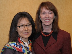 Dr. Sunny Alperson (left), the first BNC Fellow in Integrative Medicine at NINR, with NINR Director Dr. Patricia A. Grady.