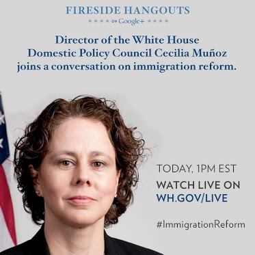 Today at 1:00 p.m. ET, Cecilia Muñoz, Director of the White House Domestic Policy Council, joins a Google...