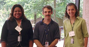 2006 Interns Karey Sutton and Andrea Northup and Dr. Resnik in the middle