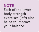 Note: All Strength Exercises (Left) also help to improve your balance