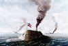 battle between USS Monitor and Virginia in 1862