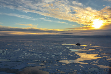 RV Polarstern in the central Arctic in summer 2012.