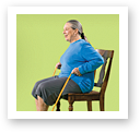 picture of Seated Row with Resistance Band